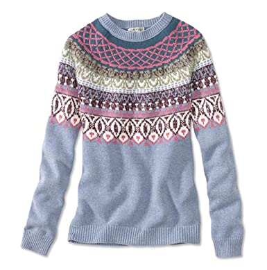Orvis Women's Native Fair Isle Sweater at Amazon Women's Clothing ...