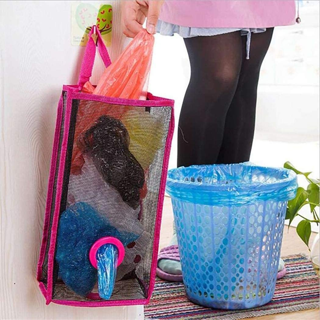 GoodKE Durable Mesh Hollow Hanging Garbage Bags Storage Bag Extraction Pouch Bag Space Saver Bags