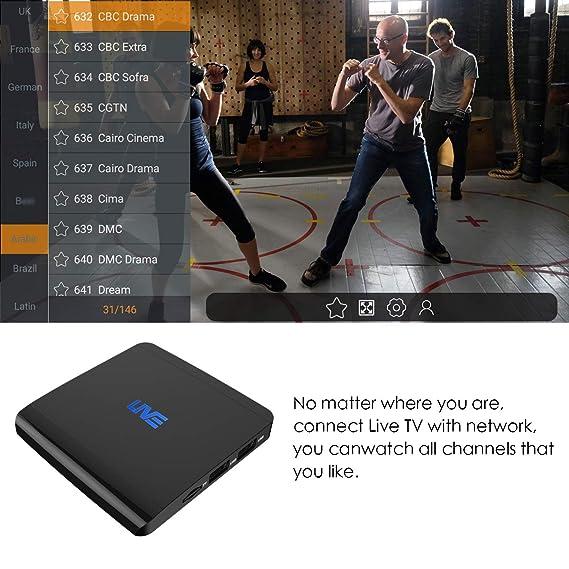 MACOBOX IPTV 2GB RAM 16GB ROM Global Receiver 1600+ International Channels  from US India Portugal Korea Arabic