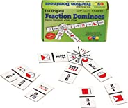 Learning Advantage The Original Fraction Dominoes - 45 Dominoes - Math Manipulative Game for Kids - Teach Equivalent, Adding