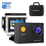 APEMAN Sport Action Camera 12MP HD 1080P Waterproof Cam 170 Ultra Wide-Angle Lens with Carrying Case Waterproof Case and Mounting Accessories Kit