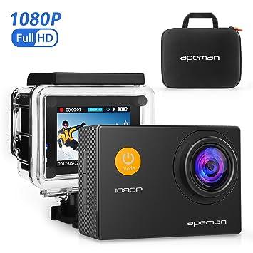 Amazon.com : APEMAN Action Camera, 12 MP Full HD 1080P Waterproof ...