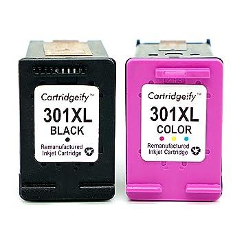 Cartridgeify 301XL Reemplazo HP 301 XL Cartuchos de Tinta Pack Ahorro, Compatible con HP DeskJet 1050a 1510 2050 2510 2540 OfficeJet 2620 4630 Envy ...