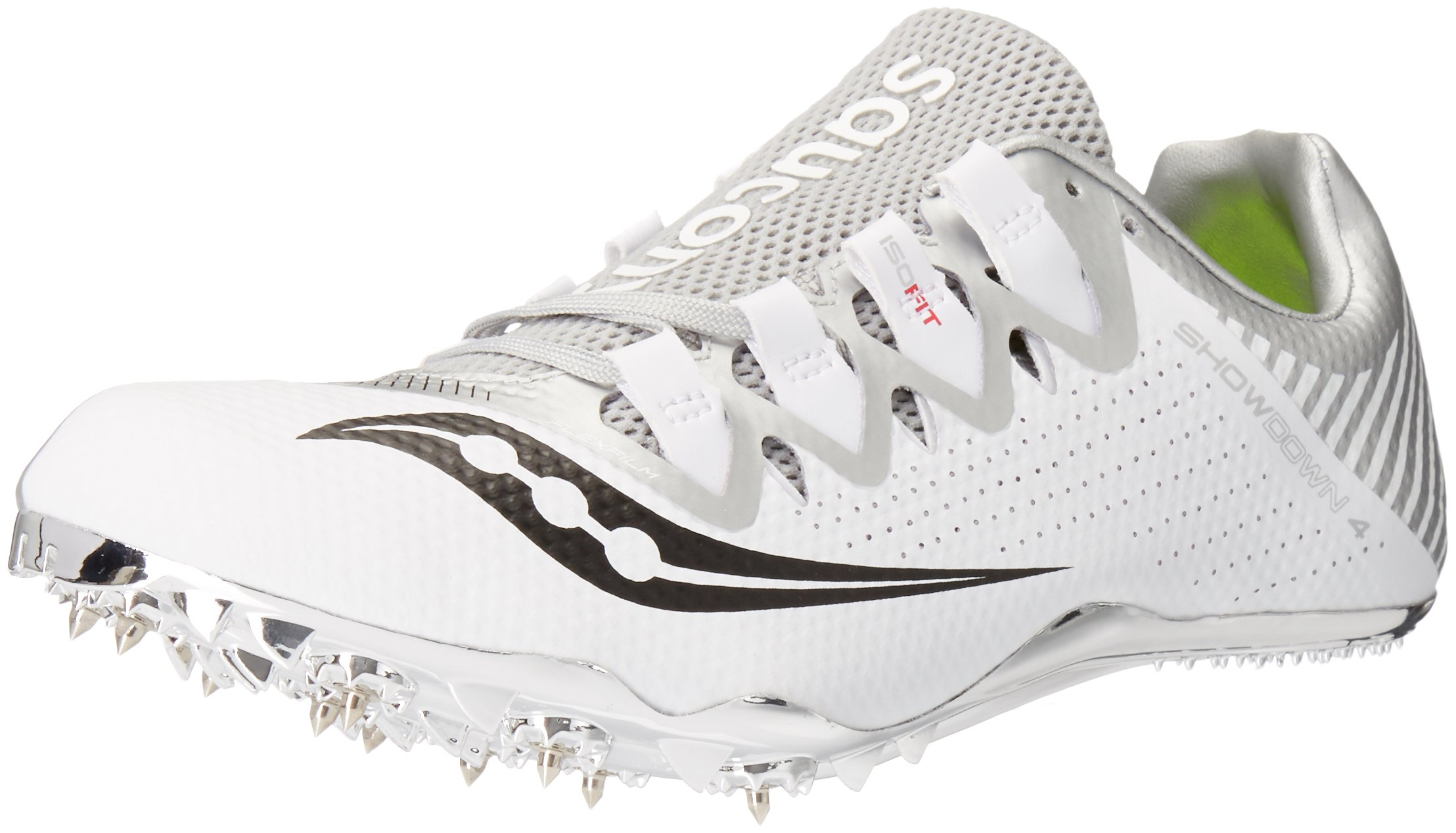 Saucony Women's Showdown 4 Track Shoe White/Silver 10 M US by Saucony (Image #1)