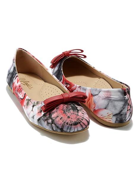 rutschen Handbuch Gemälde  Buy CANDIES NEW YORK Women Multicoloured Printed Flat Shoes (4UK) at  Amazon.in