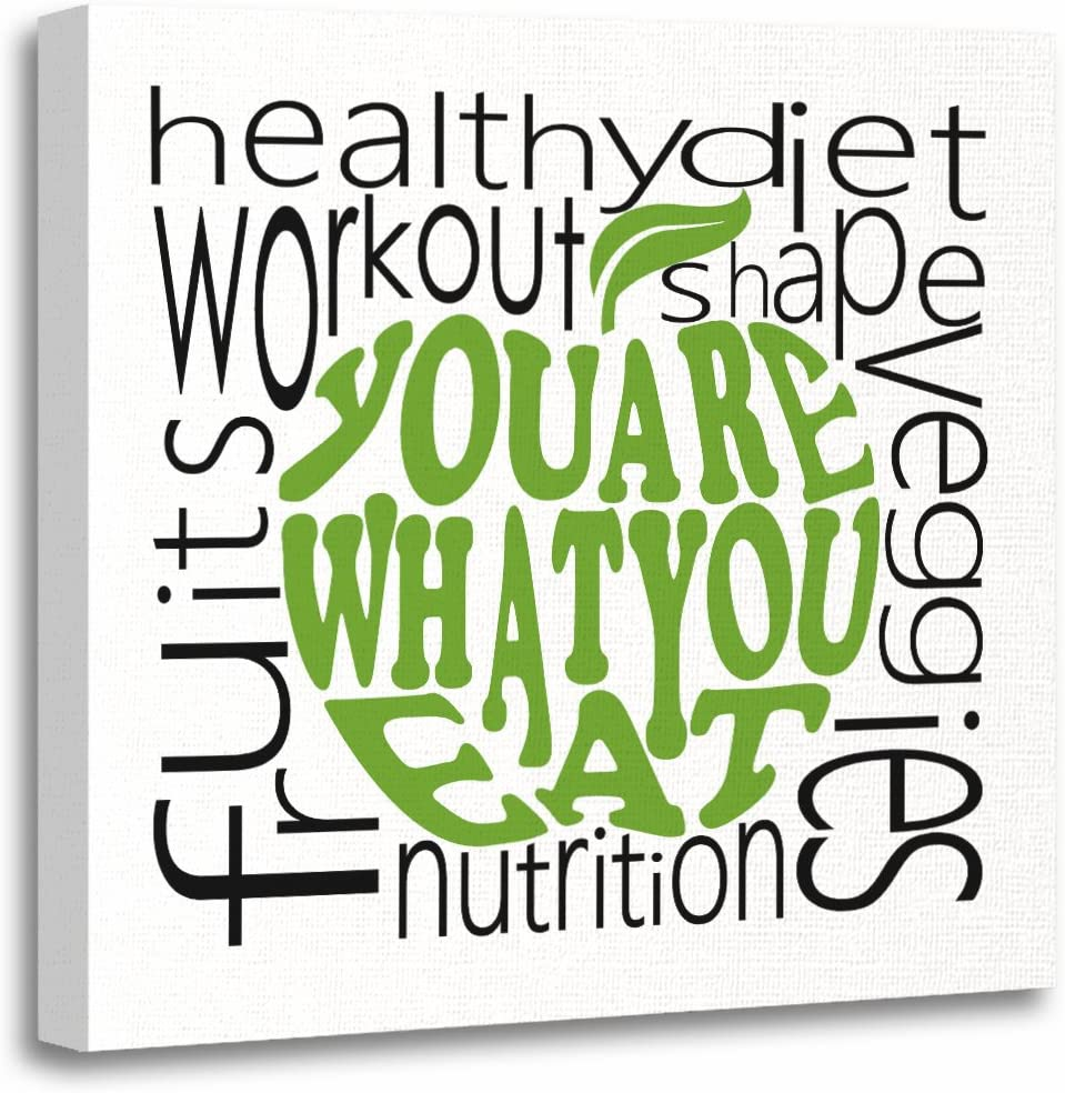 TORASS Canvas Wall Art Print Nutrition Fitness Motivational Healthy Wellness Food Vegetables Artwork for Home Decor 20