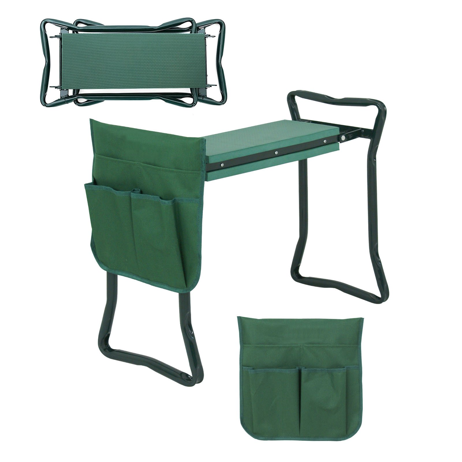 LEMY Portable Garden Kneeler Seat Multiuse EVA Foam Pad Garden Bench Foldable Garden Stool with Tool Bag Pouch (24 3/8'' x 10 7/8'' x 19 1/8'')