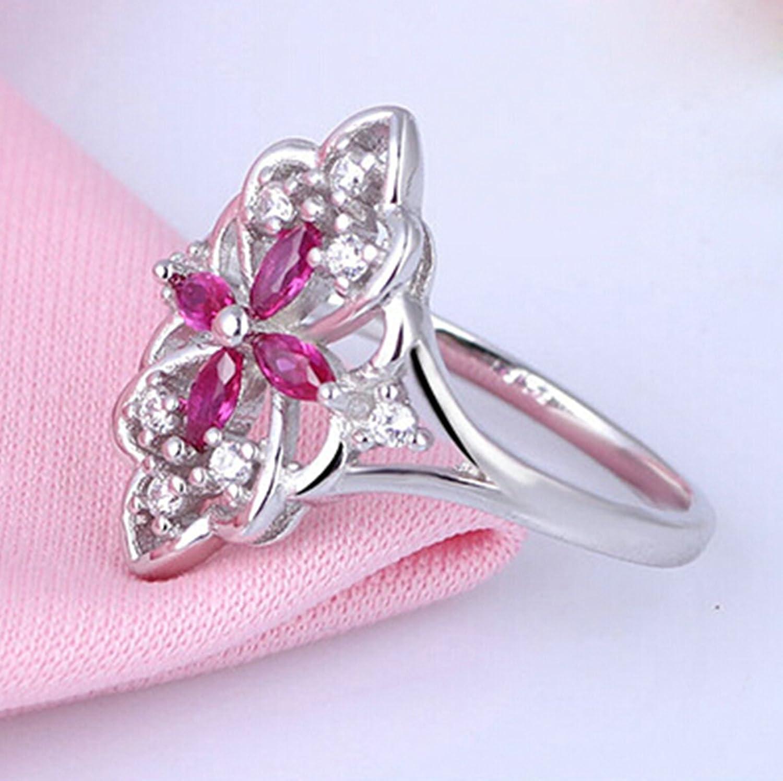 Amazon.com: Anazoz Fashion Rings, Silver Marquis Cut Cubic Zirconia ...