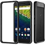 Nexus 6p Case, RhinoShield [CrashGuard] Heavy Duty 11 ft Drop Protection [High Durability] Thin Lightweight Protective Bumper - Perfect w/ Skin [Great for NFC and FingerPrint Scanner] - Black