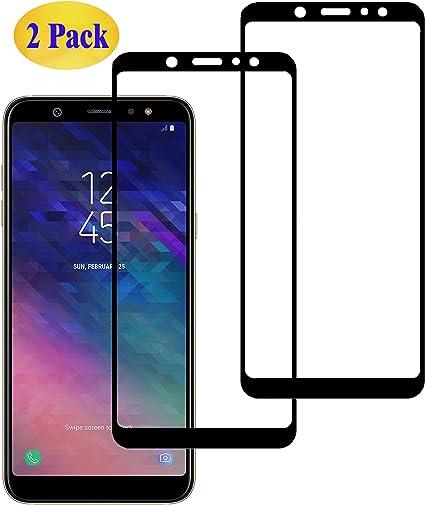 Eachy Compatible con Cristal Templado para Samsung Galaxy A6 Plus ...