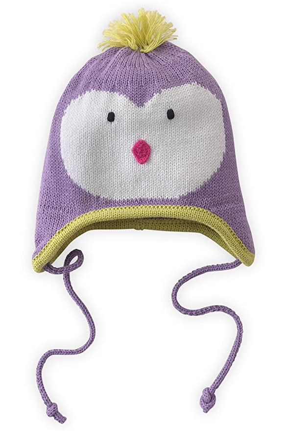 Amazon.com: Joobles Organic Baby Earflap Cap - Icy the Penguin (0-12 ...