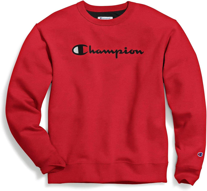 Champion Mens Powerblend Graphic Crew Sweatshirt
