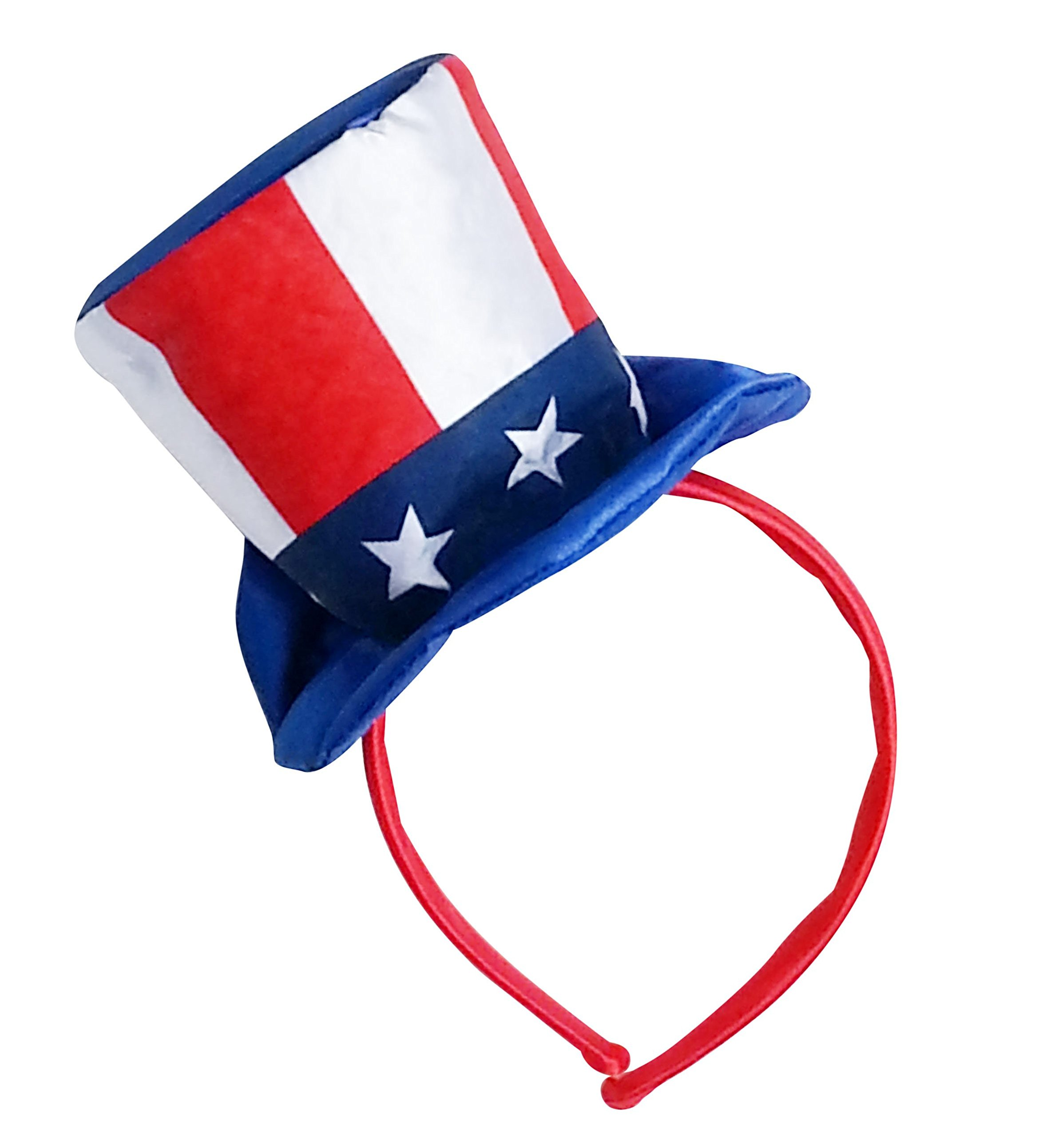 Satin Mini Uncle Sam Top Hat for Dog and Human - Party Accessory