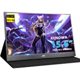 Monitor Portable Kenowa 15.6 inch HD 1920 * 1080 Monitor Portable Display with Port Dual Type-c (USB-C)/Dual USB/HDMI Video Input/Window 7 8 10 Built-in Speaker OS PC PS3 PS4 Xbox Game etc