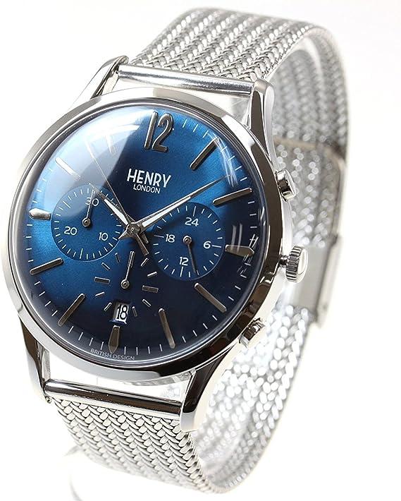 Henry London reloj Hombre Mujer Knightsbridge HL41-CM-0037: Amazon ...