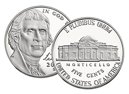 2019 Jefferson Nickel Clad Proof from complete US Proof Set