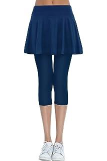 b4bad7d941167 HonourSex Women's Running Skorts Sports Tennis Golf Skirt with Capri  Leggings for Workout Jogging Biker