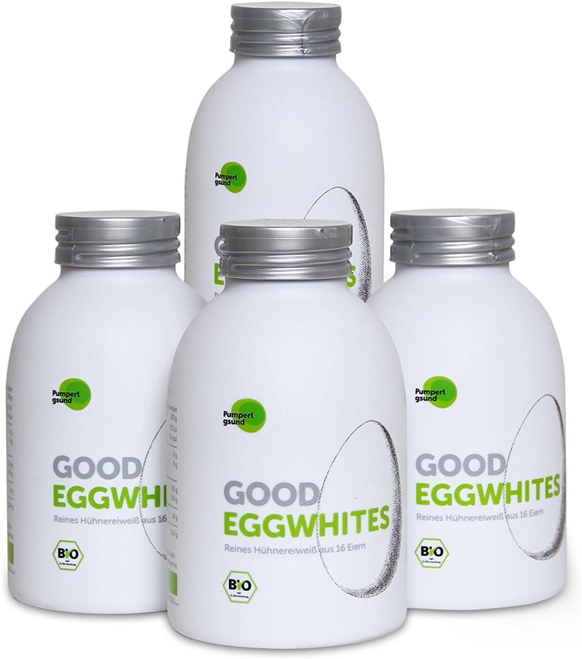 Good Eggwhites 4 x 483 ml (clara de huevo ecológica) • proteína líquida • adelgazar de forma saludable y ganar masa muscular • batidos de proteínas • ...