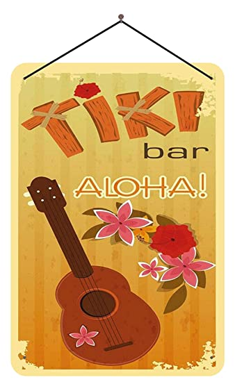 BlechschilderWelt Cartel de Chapa Tiki Bar Aloha! Hawaii con ...