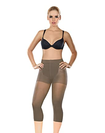 fb04cdde0e37a Amazon.com  ShapEager Faja Colombiana Reductora Capri - Thermal Slimmer  Shapewear For Women Nude  Clothing