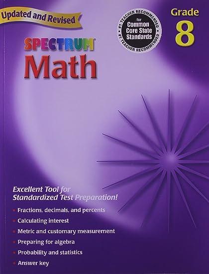 Spectrum math grade 8 workbook thomas richards 0087577913988 spectrum math grade 8 workbook fandeluxe Choice Image