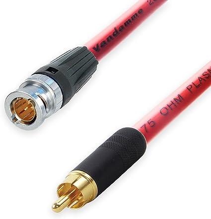Neutrik BNC a RCA LEAD. Van Damme Plasma 75 Ohm Cable Coaxial ...
