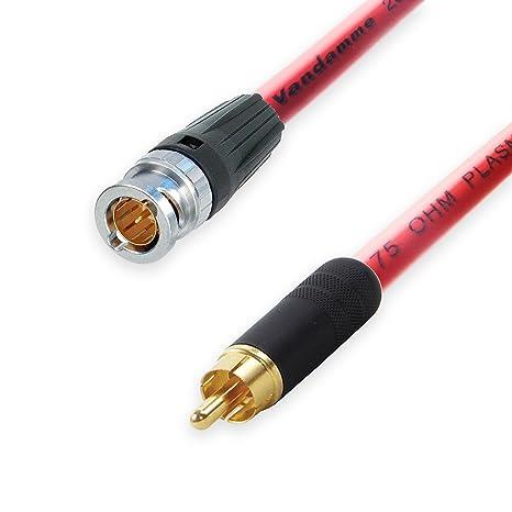 Van Damme Plasma 75 Ohm Cable Coaxial SPDIF de vídeo