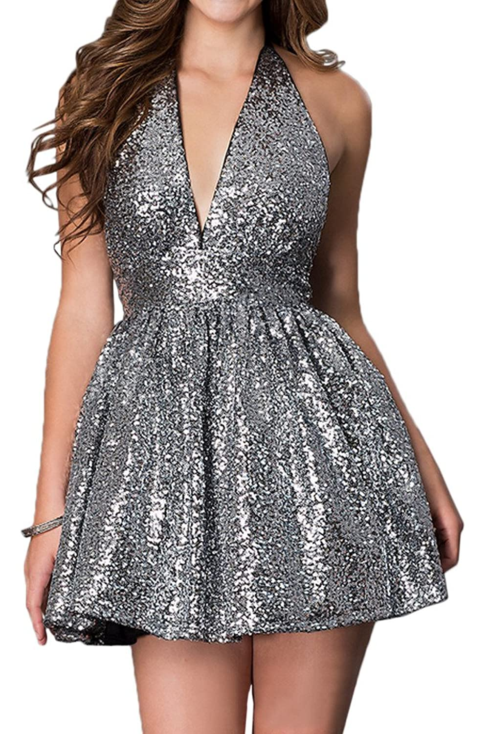 Audrey Bride Sexy Woman's Cocktail Dresses Sequins Party Dresses for Night