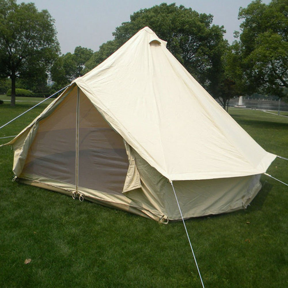 グラウンドシーツでジッパーqexan 3x3mベルテント Bell tent(ベージュ色)   B01GOHJ7GA