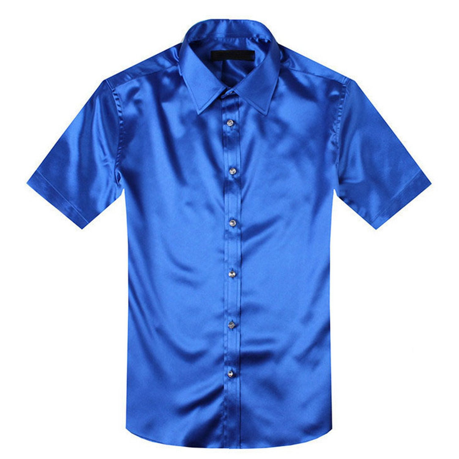 af943c98108 Mary Steele Men Shirts Clearance Polo Summer Style Silk Short Sleeve Men  Dress Shirts Casual Men Shirt Hombre at Amazon Men s Clothing store