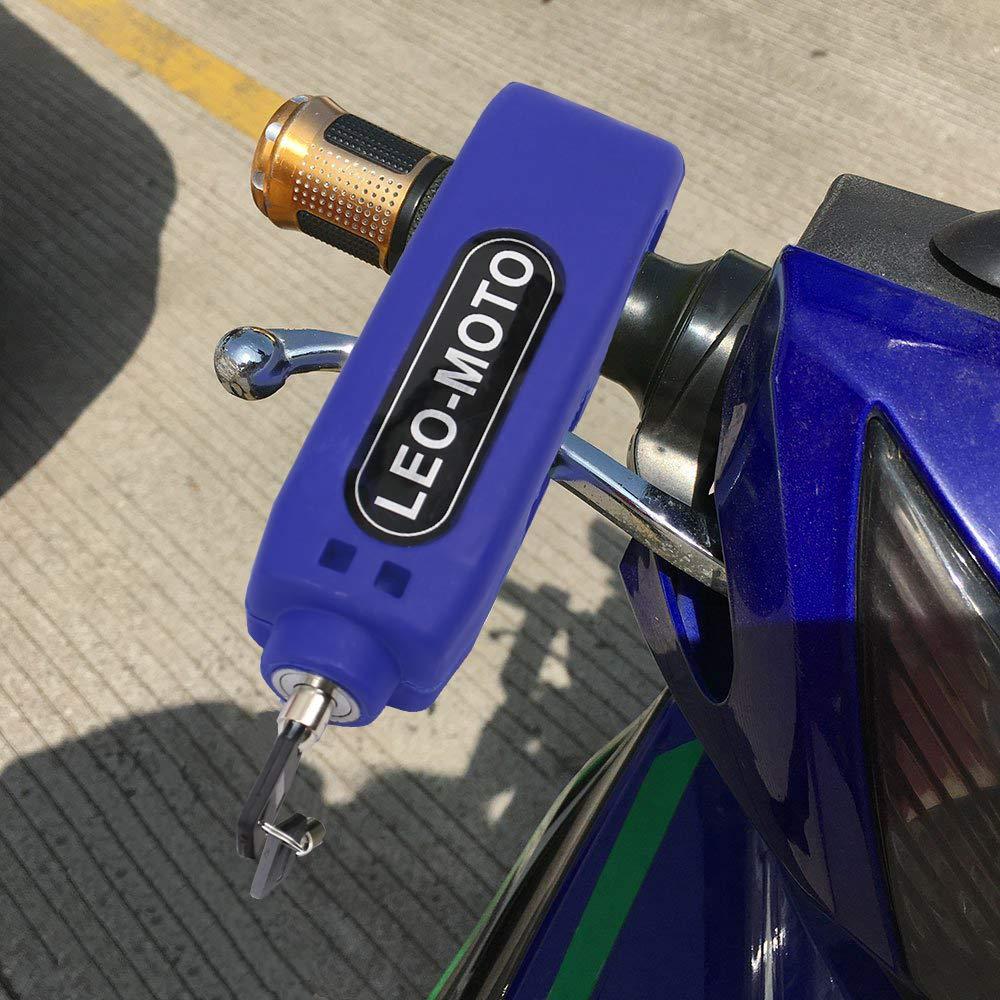 FD-MOTO Bleu Antivol Moto Verrou de Guidon Grip Levier de Verrouillage de Frein Caps pour v/élo Scooter Moto