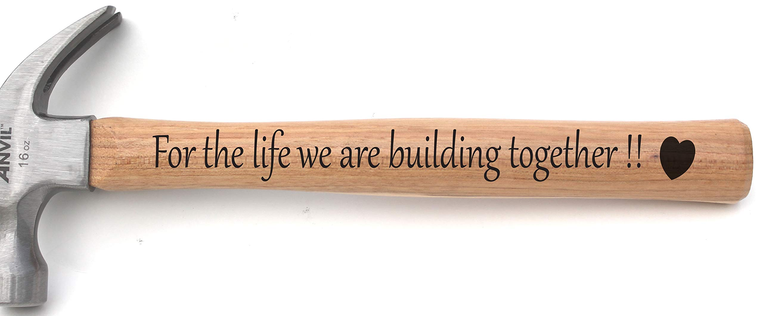 Anniversary Hammer - Engraved Hammer Anniversary - Engraved Hammer Christmas Gift for Husband or Dad or Grandpa or Uncle - Building Memories Hammer - Husband Birthday Gifts