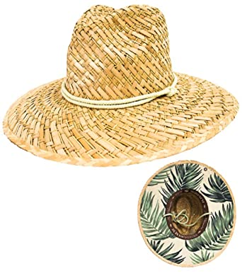 Image Unavailable. Image not available for. Color  Peter Grimm Natural Straw  Jamaica Lifeguard Hat - Wide Brim Sunhat b7ddbac39b91