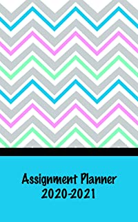 product image for House of Doolittle 2020-2021 Weekly Academic Planner Assignment Book, Chevron, 5 x 8 Inches, August - August (HOD274RTG72-21)