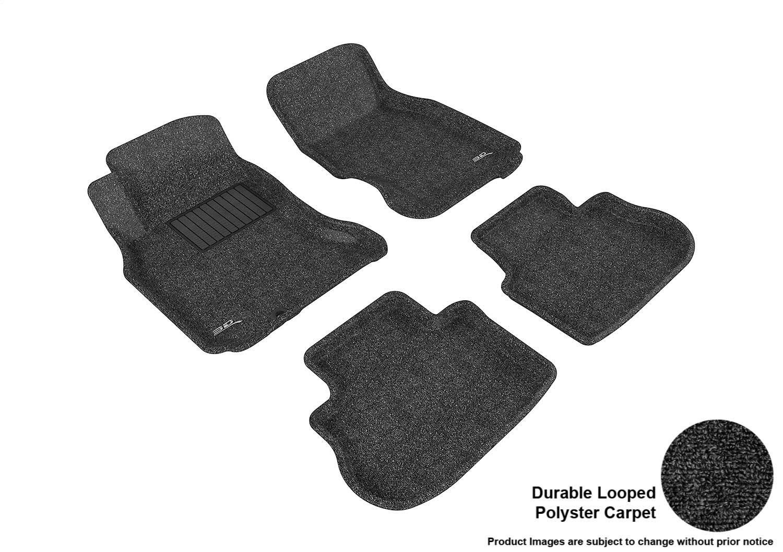 3D MAXpider Second Row Custom Fit Floor Mat for Select Infiniti Models Classic Carpet Black