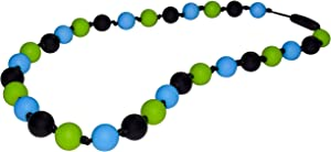 Munchables Sensory Chew Necklace for Boys (Black/Blue/Green)