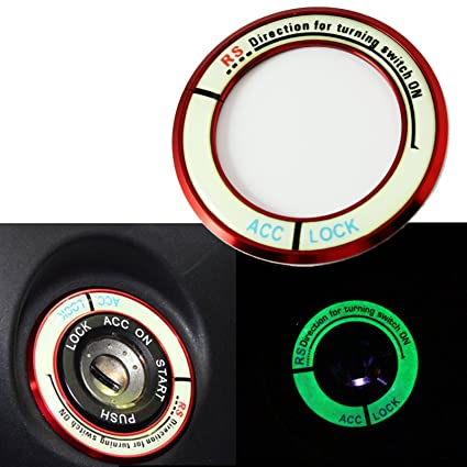 Light Glow Luminous Ignition Switch Key Starter Hole Ring For Toyota RAV4  2013 14 15