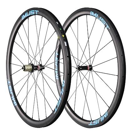 IMUST- Fast38,2 caminos usado de Cubierta Tubeless Ready 700C ruedas de 100%