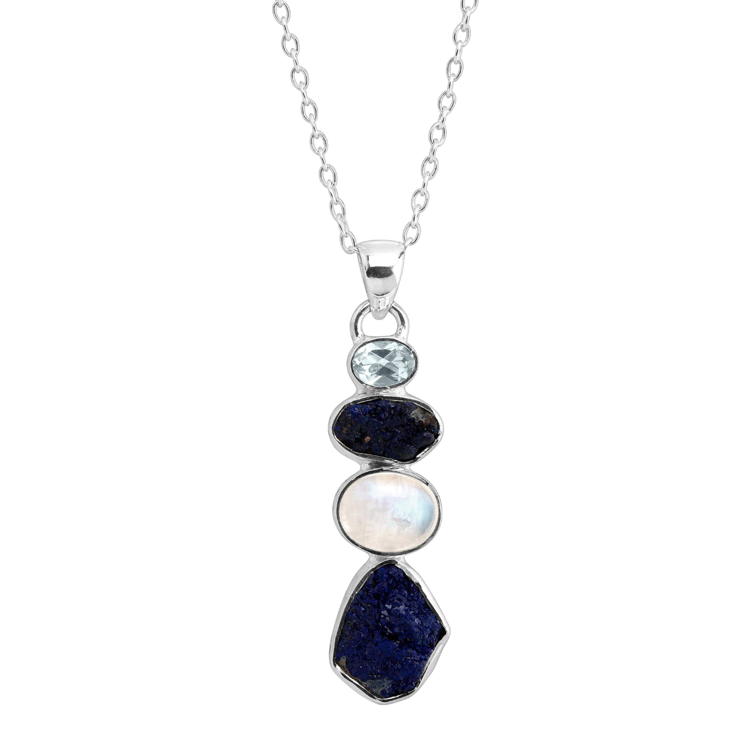 Silpada 'Pacific' Natural Mixed Blue Stone Pendant in Sterling Silver
