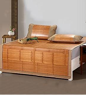 WUFENG Cama-colchón Plegable Supercool Bedding Alfombras de bambú Colchón Tejido Uso de Doble Cara