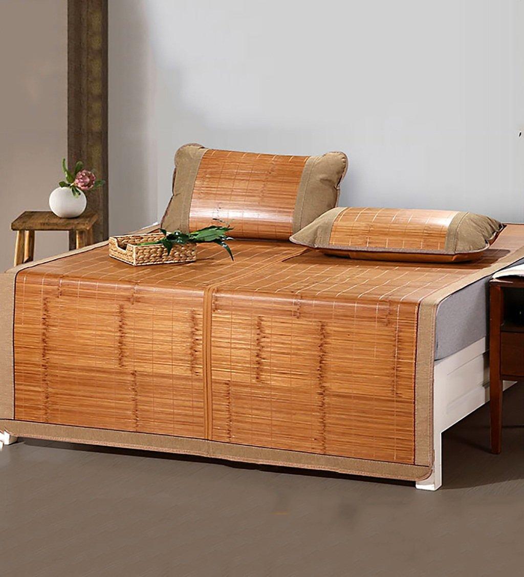 WUFENG Cama-colchón Plegable Supercool Bedding Alfombras de bambú Colchón Tejido Uso de Doble Cara para el Verano-Twin/Full / Queen/King Size (Color : D, ...
