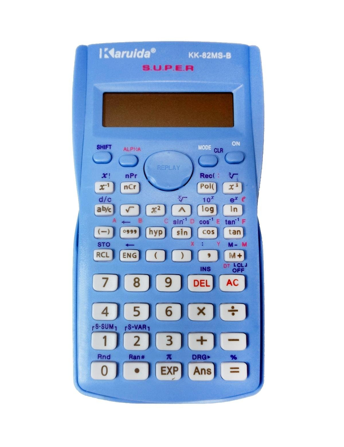 Scientific Calculator, Engineering Calculator, 2-line Display, for High School Students, College Students and Professionals (blue)