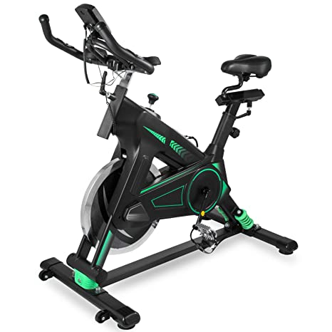 Bisujerro Bicicleta Estática de Spinning Volante 22 KG Negro ...