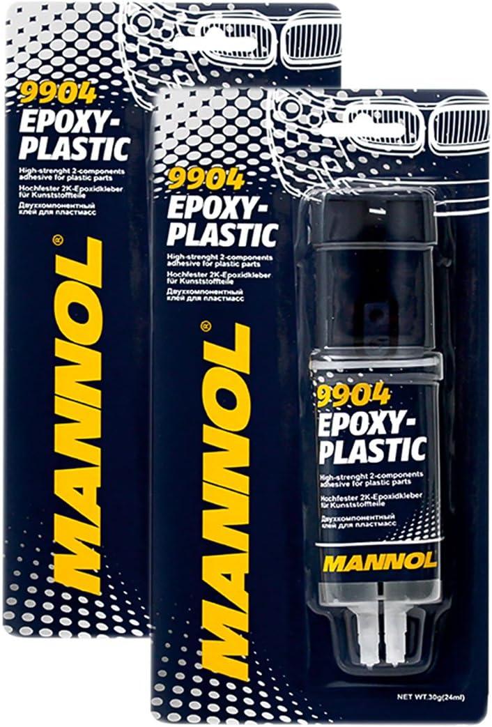 2x Mannol 9904 Epoxy Plastic 2k Plastikkleber 2k Epoxid Kleber Zwei Komponenten Auto