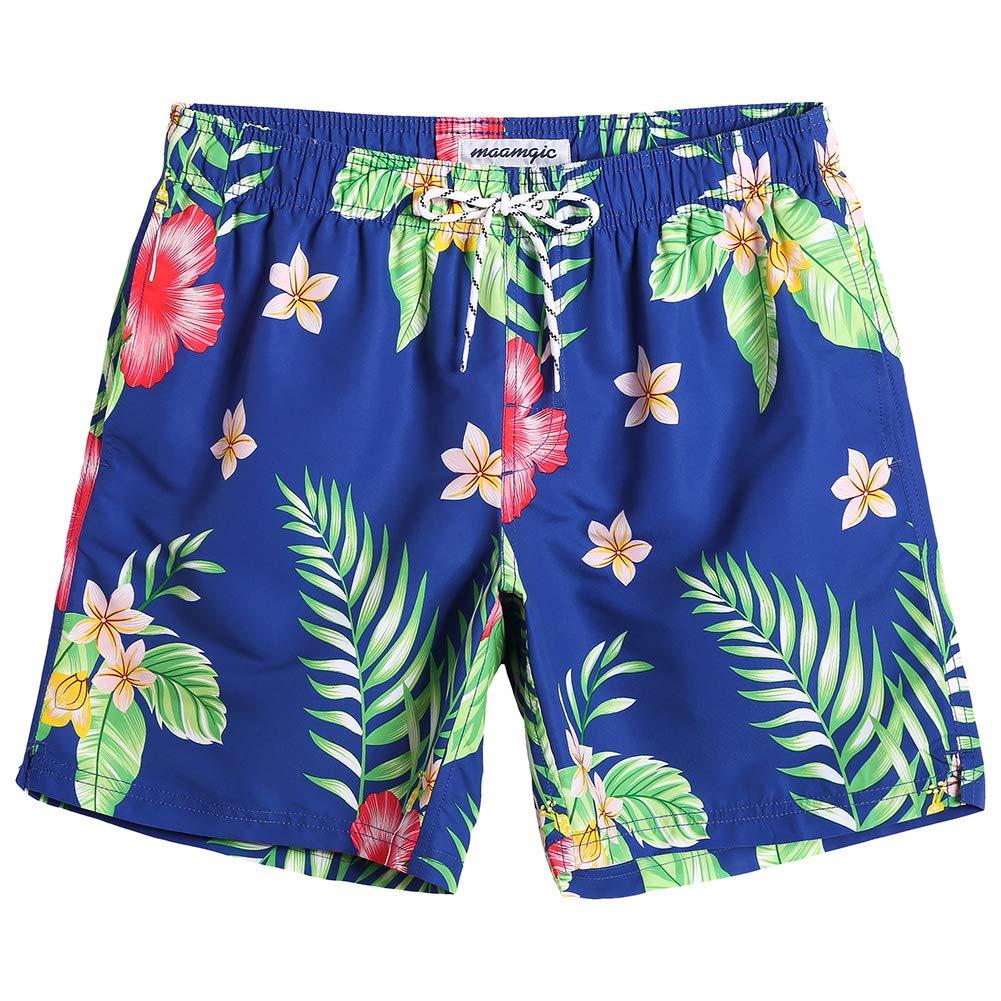 MaaMgic Mens Slim Fit Quick Dry Swim Shorts Floral