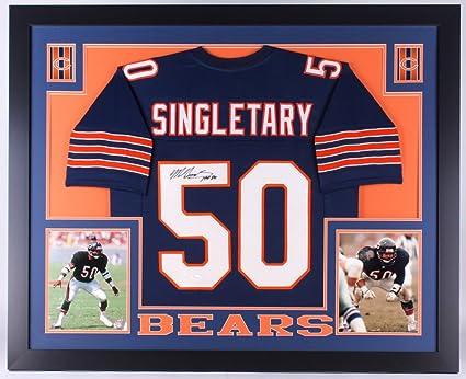 promo code fa6fe 28ac4 Mike Singletary Signed Chicago Bears 35x43 Custom Framed ...