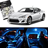 Partsam 6pcs Ice Blue LED Package For 2013-2016 Scion FRS Interior + License Plate Lights