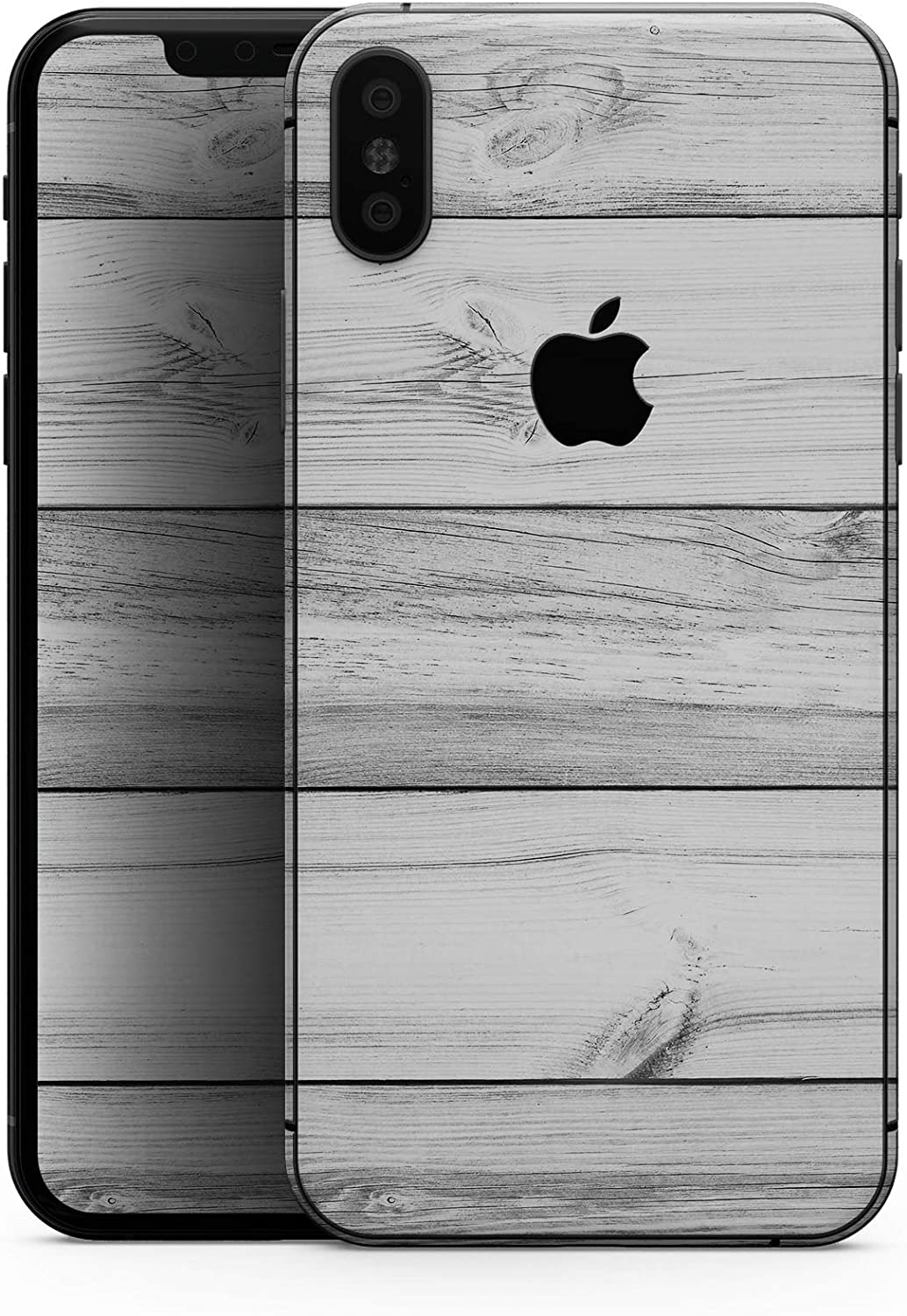 White & Gray Wood Planks - Design Skinz Premium Skin Decal Wrap for The iPhone 5s or SE