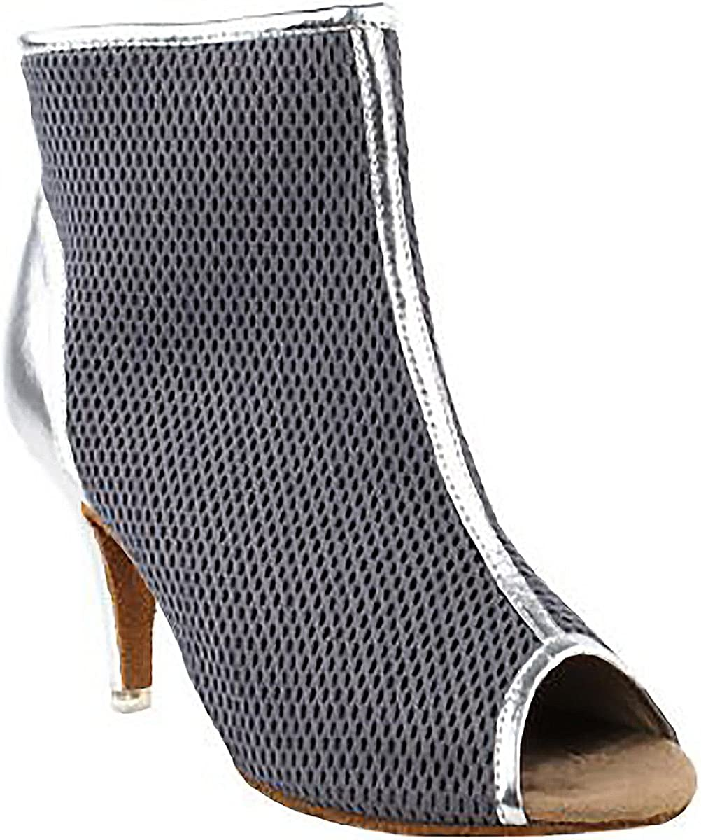 4.5, Grey and Silver Very Fine Shoes Ladies Latin Rhythm /& Salsa Competitive Dancer Series CD3028 2.5 Heel