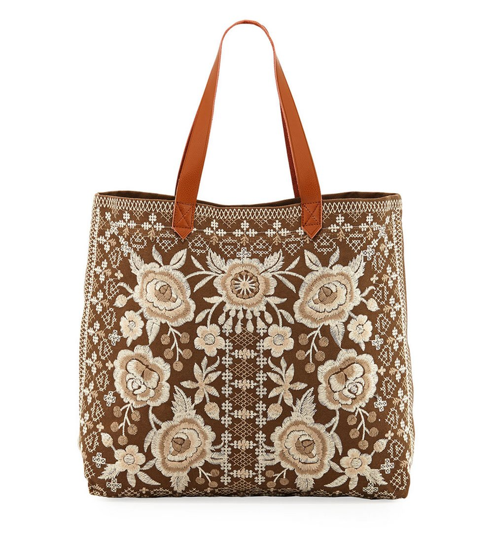 Johnny Was Women's Lane Everyday Tote Taupe